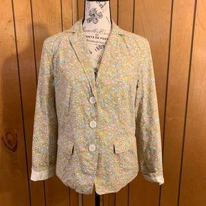 J crew liberty floral print blazer jacket